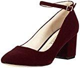 Buffalo Shoes 15p54-1 Velvet, Scarpe con Cinturino alla Caviglia Donna