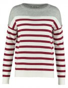 Maglione - off white/ dark red