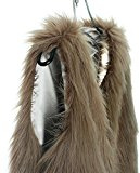 Gilet, Donna Gilet di Pelliccia Invernale Cappotto Senza Maniche Giacchetto Giubbotto Faux Fur Lungo Giacca Parka Trench/ Faux Fur Sleeveless Vest Waistcoat Jacket Faux Fur Coat