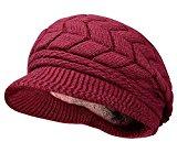 Thenice Cappello di lana con visiera Donna Invernale Hat, Taglia unica