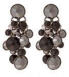 DANGLING WATERFALLS - Orecchini - black antique silver-coloured