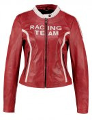 RACING TEAM - Giacca di pelle - red/white