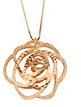 Kettenworld-Collana da donna con ciondolo, argento placcato oro 70cm 345844