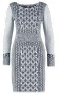 Vestito di maglia - grey/anthracite melange