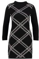 Vestito di maglia - black/offwhite