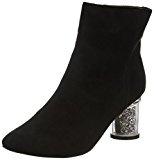 Boohoo - Annie Clear Glitter Heel Ankle Boot, Stivali Donna