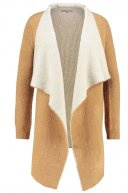 Cardigan - tan/white