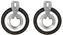 Orphelia orecchini da donna in argento 925con zirconi taglio rotondo, argento, colore: Silber - Schwarz, cod. ZO-7095/2