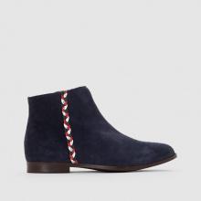 Boots in pelle dettaglio treccia