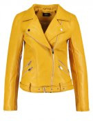 ONLY ONLSISSE Giacca in similpelle yolk yellow