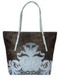 CLASS CAVALLI (Resort) Borsa Shopping Ecopelle Donna Leopard Light Blue CFQ.004