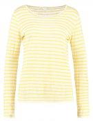 JANDRA - Maglietta a manica lunga - dark yellow/white