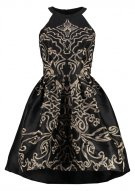 CHRISTINA - Vestito elegante - black/gold