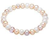 Valero Pearls Bracciale da Donna con Perle coltivate d'acqua dolce bianco albicocche lilla 00446660