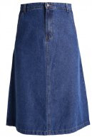 VILAMA - Gonna a campana - medium blue denim