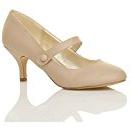 Donna media tacco mary jane lavoro festa elegante scarpe di moda taglia
