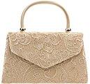 Fi9® BNWT-Borsa vintage da donna, con motivo floreale, ideale per matrimoni, feste, con scritta: Evening Handbag Purse-Borsetta a tracolla