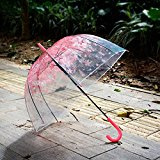 Tinksky - Ombrello / parasole con fantasia a cuori di pizzo