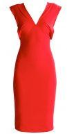 Vestito di maglina - festival red