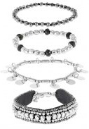 PCMIA 4 PACK - Bracciale - silver-coloured