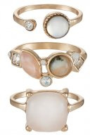 GWENAWET 3 PACK - Anello - mint rosé gold-coloured