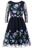 Chi Chi London CLAIRE Vestito elegante navy