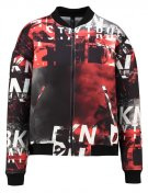Giubbotto Bomber - black/red