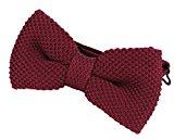 DonDon Papillon uomo fatto a maglia annodato e regolabile 11 x 6 cm