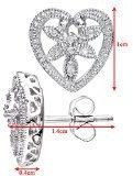 Naava Orecchini a Perno da Donna, Oro Bianco, Diamante