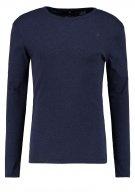 ZIVE SLIM R T L/S 3D - Maglietta a manica lunga - dark police blue heather