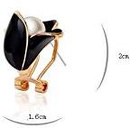 Julia & Joy-gioielli placcati in oro, colore: nero-Orecchini a perno da donna, come regalo speciale J210