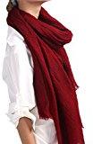 Prettystern - 220 cm di lunghezza sciarpa XXL 100% lana molto di volume aspetto leggermente increspato - selezione di colore