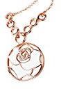 City Ouna® Elementi di Swarovski moda gioielli oro rosa placcato gemma ciondolo rotondo forma cava fascino collana con catena