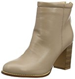 Boohoo Rachel Wood Effect Block Heel Boot, Stivaletti Donna