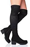 Donna Blocchetto Medio Cerniera Coscia Alta Stivali sopra il ginocchio Numero