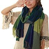 ISASSY Fasce da donna Vintage-Sciarpa/stola elegante in Tartan scarf Shawl?