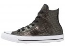 CHUCK TAYLOR ALL STAR METALLIC SNAKE LEATHER - Sneakers alte - black/white