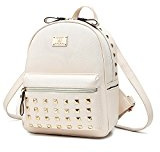 Nicole&Doris I nuovi sacchetti di scuola in pelle Donne Borse zaino da viaggio Bauletto Fashion PU metallo