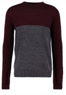 Maglione - grey and bordeaux