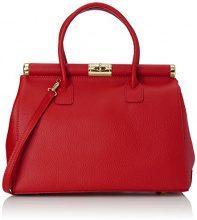 Chicca Borse 8005, Borsa a mano Donna, Rosso, 35 cm