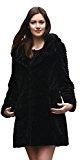 Favoloso cappotto di pelliccia Adelaqueen per donna in finto astrakan persiano, nuova collezione inverno, multi style