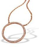 Goldmaid Collana da Donna Argento ossidato Brillante Zirconia Cubica Bianco 45cm
