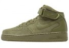 AIR FORCE 1 MID 07 - Sneakers alte - cargo khaki/black/electric green