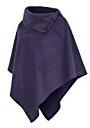 AO Poncho da donna a collo alto, taglie S - XL Violett Taglia unica