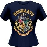 Playlogic International(World) - Harry Potter Crest GTS, T-shirt da donna, blu (blue), taglia 12 (Taglia produttore:Large)