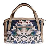 Borsa Shopping Smash BEIGE mela a forma di mela, in tela e simil pelle, colore: beige