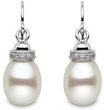 Kimura Pearls-9-9,5 mm, in argento sterling, a forma di goccia, perle d'acqua dolce coltivate, AA-Orecchini e contorno goffrato
