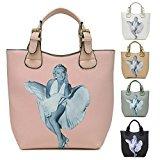 Big Handbag Shop Marilyn Monroe Designer Stampa maniglia superiore borsa a tracolla