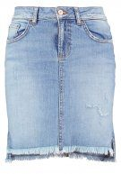 MIRAH - Gonna di jeans - light stone wash