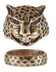 ONLLEOPARD 2 PACK - Anello - gold-coloured
